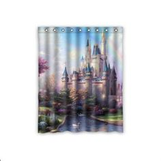 "Amazon.com: Custom Fairy Tale Castle Window Curtains/drape/panels/treatment Polyester Fabric Bedroom Decor 52""x72"": Home & Kitchen"
