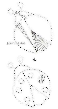 Ladybug pinbroidery pattern