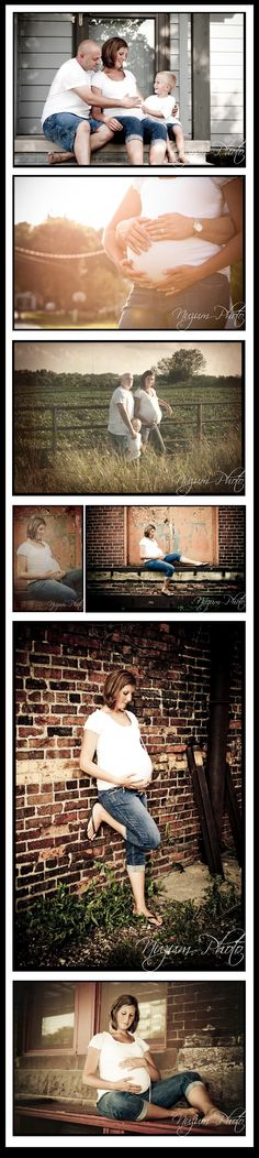 Collage of maternity picture ideas