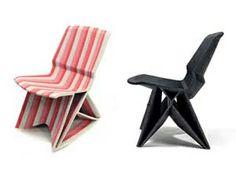 Cadira// Material reciclat de restes de navera// Dissenyador: Dirk Vander Kooij // impressió 3D