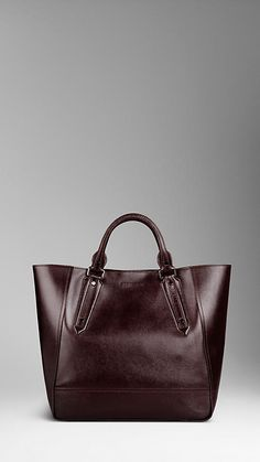 Burberry London Leather Portrait Tote Bag
