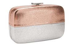 Party Girl Box Clutch by Henri Bendel - $198. I wish the bottom half was a different texture, it looks like wrinkly skin.