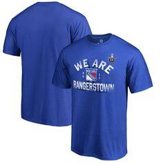 New York Rangers Fanatics Branded 2017 Stanley Cup Playoffs Participant Crease Slogan T-Shirt - Blue