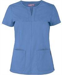 Koi Scrubs Naomi Top Koi Scrubs, Staff Uniforms, Scrubs Uniform, Apron Designs, Scrub Tops, Work Fashion, Chiropractic, Caregiver, Clothes Hanger