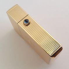 VERY RARE 14K gold Imperator lighter, cca1910, Louis Kuppenheim, sapphire