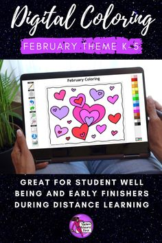 Are you looking for something inspirational that will support your students with their mental well-being that can be completed online with no resources required whatsoever? Then look no further than these brand new style of Online Digital Colouring Page Decks: February theme for young children, ideal for Valentine's Day! Images include: hearts, gift, friends and a rose, ideal for February or Valentine's Day! #digitalcoloring #coloronline #valentinescoloring Arts Integration, Technology Integration, Secondary Teacher, Secondary School, Quote Coloring Pages, Colouring Pages, Teacher Resources, Teaching Ideas, Mindfulness Colouring