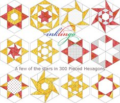 300 Pieced Hexagons and more stars on the All About Inklingo blog.