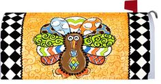 PATTERNED TURKEY   Magnetic Mailbox Makeover Cover  THANKSGIVING  FALL Themed *** Check this awesome product by going to the link at the image.