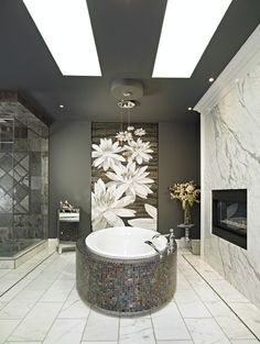 Gorgeous! and yes  the lily mural is a huge tile mosaic!  I would LOVE this! <3