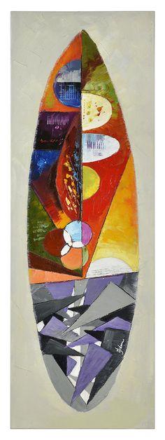 Ren-Wil Whakamataku III by Olivia Salazar Original Painting on Canvas Metal Wall Art, Canvas Wall Art, Mosaic Designs, Wooden Boats, Art Of Living, Joss And Main, Abstract Pattern, Wall Signs, Surfboard