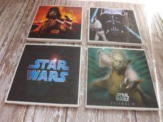 Star Wars Ceramic Tile Coasters Teenager Dorm Room by ThinkGeekz, $15.00