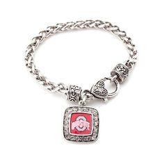 The Ohio State Buckeyes Classic Braided Charm Bracelet