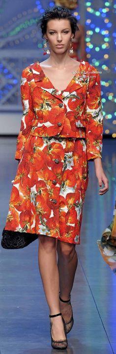 .Dolce & Gabbana Spring 2012
