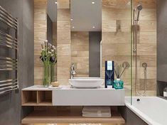 Luxury Bathroom Master Baths Walk In Shower is enormously important for your home. Whether you choose the Luxury Bathroom Master Baths Towel Storage or Luxury Master Bathroom Ideas, you will create th Bathroom Goals, Bathroom Spa, Bathroom Ideas, Beige Bathroom, Bathroom Plants, Bathroom Remodeling, Remodeling Ideas, Bathroom Organization, Bathroom Mirrors