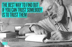 TRUST / Ernest Hemingway