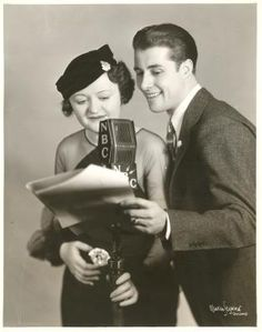 June Meredith and Don Ameche Original 1934 OLD TIME RADIO PHOTOGRAPH w/ Press Release