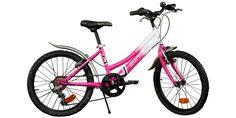 Vélo fille DINO Rose et Blanc - 20 pouces - Zoom