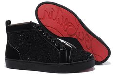 Christian Louboutin ~ Mens Diamond Shoes Black