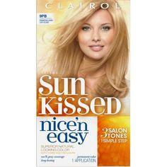 Clairol Nice 'n Easy Sun Kissed Hair Color Kit, 9PB Shimmering Sands Light Blonde
