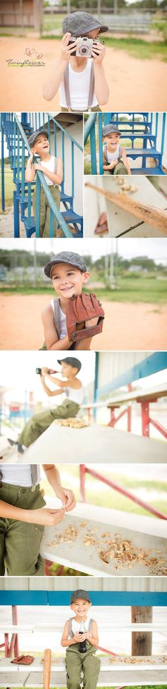 Take me out to the ball gamer . . . little boys love baseball.  We loved the vintage feel of this session, and wanted to share it with all of you.    ©Twinflower Photography #TheFort, #RisingStar