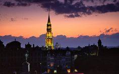 Sunset in Brussels, Belgium