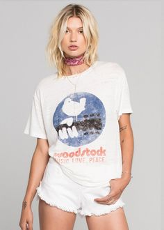SUMMER OF '69: The Woodstock Festival tee with '69 at back, by Daydreamer LA at shopblacksalt.com