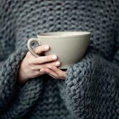 Imagem de sweater, tea, and coffee