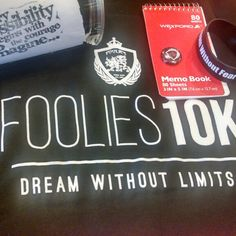 Foolies Swag. Make sure you check those mailboxes for your packages! Yes, your order will come with the dream book, wrist bands, and who knows what else we may include in your Foolies package. #Foolies10K  Just promise us to snap your photos in your tee when you get it and if you go on any travels that you include us along on the journey! #neverleavehomewithoitit #travel #dreamchasing #whogonestopus