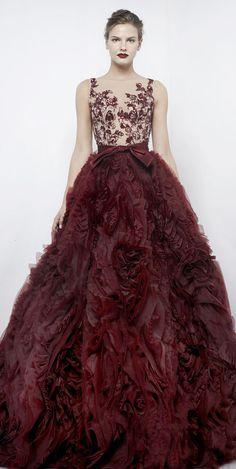 Burgundy Baby! Designer Gown Fashion Trends