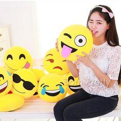 $9.79 1Pc 30*35cm Funny Emoji Cushion Facial Expression Pillow Stuffed Doll Toy 9 Patterns - BornPrettyStore.com