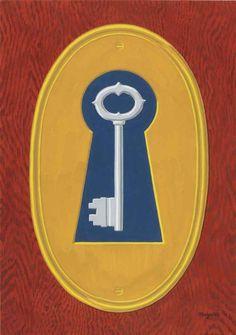 René Magritte (1898-1968), The Smile of the Devil (1966), gouache on paper, 30 x 41.9 cm.