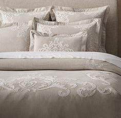 Embroidered Bedding Bedding And Duvet Covers On Pinterest