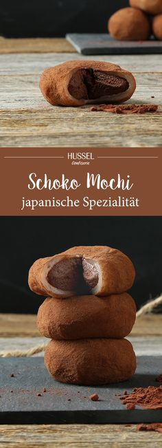 Schokoladen Mochi - japanische Spezialität - Hussel Confiserie The Effective Pictures We Offer You About gluten free Asian Recipes A quality picture can tell you many things. Asian Desserts, Health Desserts, Gourmet Desserts, Asian Recipes, Plated Desserts, Chocolate Mochi Recipe, Chocolate Filling, Cake Chocolate, White Chocolate