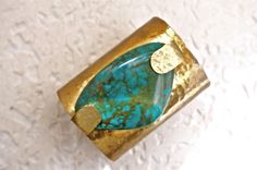 De Petra Signature Cuff with Turquoise