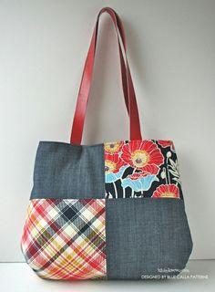 The Poppy Patchwork Tote Bag PDF Pattern - New pattern Sale!