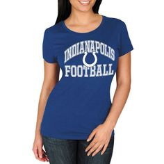 Indianapolis Colts Majestic Women's Franchise Fit T-Shirt - Royal - $24.99