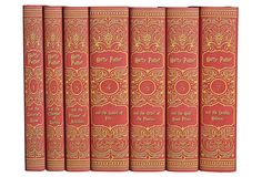 S/7 Harry Potter Gryffindor Collection on OneKingsLane.com. This set of all seven books in the Harry Potter series has custom book jackets in the colors of Gryffindor house.