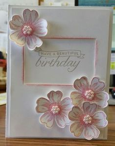 Shop Pansy by Patti S. Brown - Cards a Flower Shop Pansy by Patti S. Brown - Cards a / Flower Shop Pansy by Patti S. Brown - Cards a / Birthday Cards For Women, Handmade Birthday Cards, Happy Birthday Cards, Greeting Cards Handmade, Birthday Cards With Flowers, Butterfly Cards, Flower Cards, Bday Cards, Stamping Up Cards