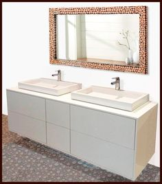 Acabados & Formas Double Vanity, Bathroom, Bathroom Furniture, Shapes, Architecture, Home, Washroom, Full Bath, Bath