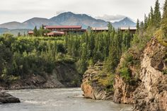 The McKinley Chalet overlooks the Nenana River.