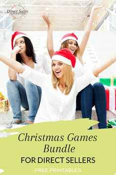 5 done-for-you Christmas games for your direct sales or party plan events. Grab the printable now and be ready for the holiday party season!
