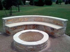Paver Fire Pit, Fire Pit Bench, Fire Pit Seating, Fire Pit Area, Fire Pit Backyard, Fire Pit Wall, Outdoor Stone, Outdoor Pergola, Outdoor Fire