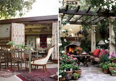 omg, i am loving these outdoor space inspirations on honestlywtf.com!!