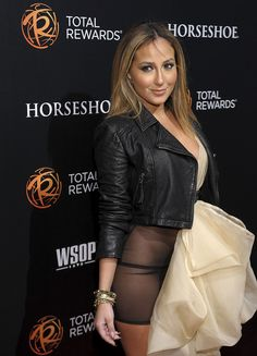 A panty-less Adrienne Bailon in sheer. Sigh.