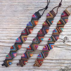 PROMO ** Colorful Handwoven Unisex Macrame Bracelet, Gypsy, Adjustable, Color Choice