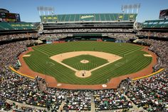 Oakland plays the Mariners the weekend we get in - catch a game? O.co Coliseum - Home to the Oakland Athletics