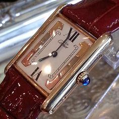 Cartier must de Watch ~ Designer Tank ~ Solid 18 k Gold~ Quartz ~ Free Shipping
