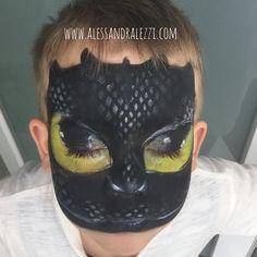 Alessandra Lezzi - facepainting - Dragon Trainer - NIGHT FURY/FURIA BUIA
