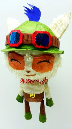 ¡¿Mini Teemo Puppet Pinata?!  When did this happen!?  Love This Pinata so much but dont want to Bash it? We now have our Mini Collectible Pinata Series. Now in Mini Size, the only pinatas world wide that are interactive. Limbs are all movable enhancing the pinata experience in a unique and fun way! Celebrate your life in the League of Legends way.  We are Third Generation Pinata makers who have modernized the traditional form of pinatas in a way that has never been seen before. Mini Size…