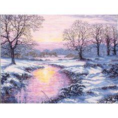 Winter Sunset Counted Cross Stitch Kit
